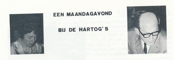 196605 Onderschrift: zie foto. Bij artikel over De Hartog's.   Clubnieuws 27 (1965-1966) 4, p.12    Fotograaf: onbekend  Formaat: nvt   Afdruk zw
