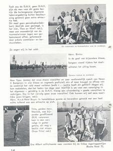 19660508 Onderschrift: zie foto Opmerking: Onderlinge Hockeydag 8 mei 1966, O.a. gekostumeerde elftallen.  Clubnieuws 27 (1965-1966) 5 p. 14 Fotograaf; onbekend Formaat: nvt Afdruk zw