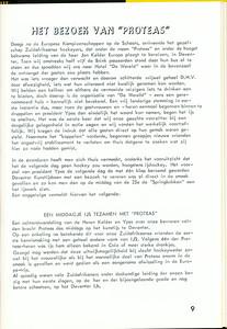 19660124nr1 Artikel Clubnieuws maart 1966 over bezoek Proteas op 24, 25 en 26 januari 1966.
