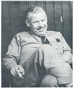 196510 Onderschrift: geen. Bij artikel over Jan Broekhuis. Opmerking: Jan Broekhuis   Clubnieuws 27 (1965-1966) 1, p. 3   Fotograaf: onbekend  Formaat: 6 x 5    Afdruk zw