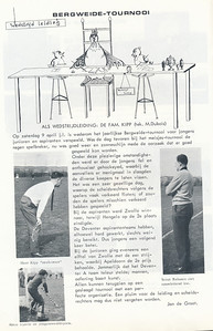 19660409 Onderschrift: zie foto  Opmerking: artikel over Bergweide toernooi op 9 april 1966 voor Jongens junioren en jongens aspiranten   Clubnieuws 27 (1965-1966) 4, p. 14  Fotograaf: onbekend  Formaat: nvt   Afdruk zw
