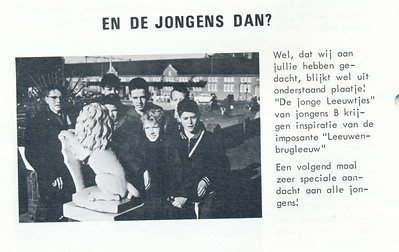 1965 Onderschrift: zie foto Opmerking: Jongens B  Mail Hendrik Jan van der Horst Bruyn 3 maart 2013: jongen tweede van rechts is Jaap Kramers. Med. Jaap Kramers aan Hendrik Jan.   Clubnieuws 27 (1965-1966) 2, p. 12   Fotograaf: onbekend  Formaat: 9 x 6    Afdruk zw