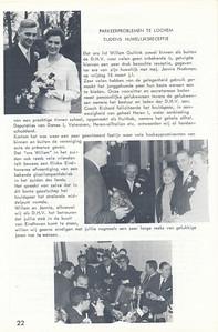 19660318 Onderschrift: zie foto  Opmerking: trouwen Willem Guitink met Jannie Hoekman op 18 maart 1966   Clubnieuws 27 (1965-1966) 4, p.22   Fotograaf: onbekend  Formaat: nvt    Afdruk zw