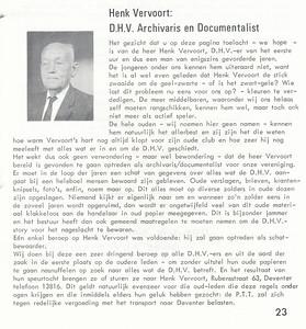 196608 Onderschrift: zie foto Opmerking: Henk Vervoort  Clubnieuws 27 (1965-1966) 5 p. 23 Fotograaf: onbekend Formaat: nvt Afdruk zw