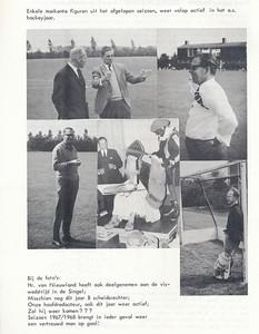 196708 Onderschrift: zie foto  Opmerking: 1. Jan van Beek en Corry van Nieuwland 2. Dick Ypes 3. Seger Klunk 4. Sinterklaas met Ypes op 9 december 1966.  5. Piet Wuite   Clubnieuws 28 (1967) 3,  augustus,  p. 16 Fotograaf: onbekend Formaat: nvt Afdruk zw