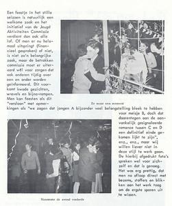19680120 Onderschrift: zie foto Opmerking: beatfeest 20 janauri 1968  Let op: close dansen   Clubnieuws 29 (1968) 1, p. 28 Fotograaf: onbekend Formaat: nvt Afdruk zw