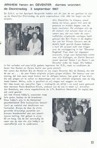 19670903 Onderschrift: zie foto  Opmerking: Districtsdag 3 september 1967   Clubnieuws 28 (1967) 4, november, p. 33 Fotograaf: onbekend Formaat: nvt Afdruk zw