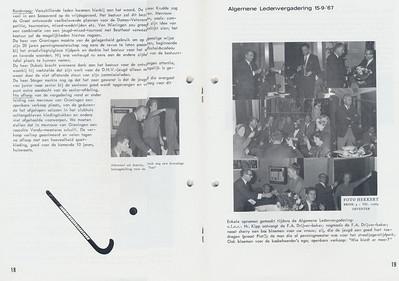 19670915 Onderschrift: zie foto Opmerking: vervolg ALV 15 september 1967   Clubnieuws 28 (1967) 4, november, p. 18 en 19  Fotograaf: Hekkert Formaat: nvt Afdruk zw