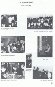 19671118 Onderschrift: zie foto  Opmerking: viering 54-jarig bestaan.  foto Heren I Cees Zeijlemaker en Thijs Schutte. De captain R.v.G.-W = Rie van Groningen-Wullink    Clubnieuws 29 (1968) 1, p. 17 Fotograaf: onbekend Formaat: nvt Afdruk zw