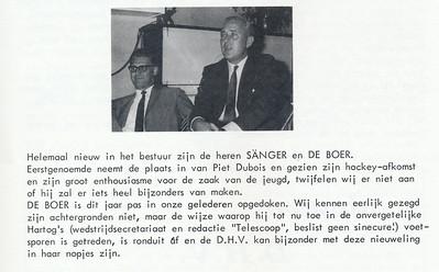 19670915 Onderschrift: zie foto Opmerking: links De Boer en rechts Sanger m.i.  Clubnieuws 28 (1967) 4, november, p. 14 Fotograaf: onbekend Formaat: 6 x 4 Afdruk zw