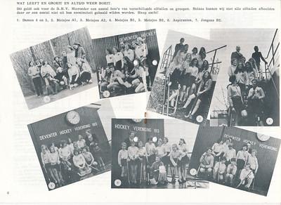 19720519 Onderschrift: zie foto Opmerking: een aantal elftallen eind seizoen 1971-1972.  Telescoop jrg. 33 (1971-1972) nr. 39, 19 mei 1972, p. 6 en 7 Fotograaf: onbekend Formaat: nvt  Afdruk zw