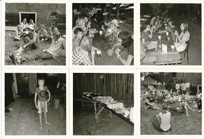 19730801 Acherop de datum van afdrukken: 30 augustus 1973 Papier erbij van Hanny Visscher: Vilsteren 1972-73  CollectieHannyVisscher Fotograaf: ws. Hanny Visscher Formaat: foto's zijn 9 x 9 Afdruk zw