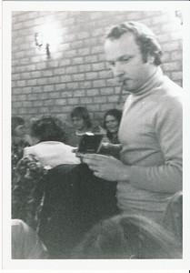 19750520 Achterop: datumafdruk 20.5.75 Opmerking: Hendrik Jonker.   Archief DHV, Schenking Lucrees van Groningen 6 oktober 2017 Fotograaf: onbekend Formaat: 10x 7 Afdruk zw