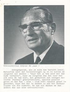 197705 Artikel in De Telescoop eind april/begin mei 1977. Frits Drijver 80 jaar.