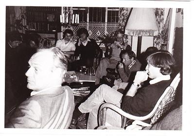 Onderschrift: 1979 filenaam: Heren I voorbespreking 1978  In mail 13 november 2012: frank van Orden, ??, Gerrit Boscchers, Hendrik Jonker, Huib van Laar  Collectie Paul Kipp Fotograaf: onbekend Formaat: onbekend Afdruk zw