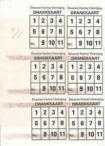 198003 Drankkaart DHV 1980. Model voor afdrukken drankkaart.   Uit Ingekomen/uitgegaan maart 1980