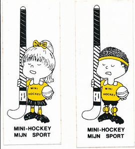 1980 Stickers mini-hockey   Album mini's clubhuis Formaat: iedere sticker 15 x 6