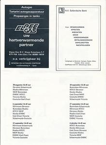 198108  Onderschrift: zie foto  Opmerking: Programmablad Heren I seizoen 1981-1982 pagina 3   Collectie Van der Graaf  Formaat: 31 x 21 (A4)  Afdruk zw