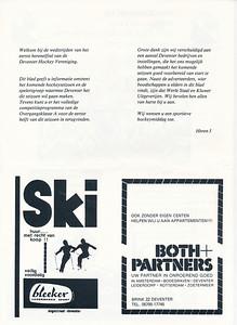 198108  Onderschrift: zie foto  Opmerking: Programmablad Heren I seizoen 1981-1982 pagina 2   Collectie Van der Graaf  Formaat: 31 x 21 (A4)  Afdruk zw