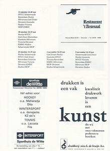 198108  Onderschrift: zie foto  Opmerking: Programmablad Heren I seizoen 1981-1982 pagina 4   Collectie Van der Graaf  Formaat: 31 x 21 (A4)  Afdruk zw