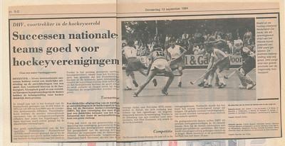 19840913 Onderschrift: geen Opmerking: artikel Deventer Dagblad 13 september 1984  Collectie Ed van Orden