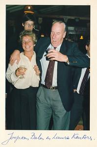 19860912nr20 ALV 12 september 1986  Onderschrift: Joop van Balen en Laura Kanters   Collectie Van Noortwijk  Fotograaf: ?  Formaat: 15 x 10  Afdruk kleur