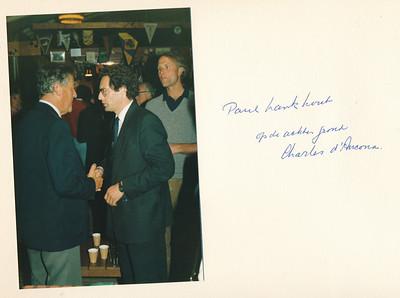 19860912nr17  ALV 12 september 1986  Onderschrift: Paul Lankhout op de achtergrond Charles d' Ancona   Collectie Van Noortwijk  Fotograaf: ?  Formaat: 15 x 10  Afdruk kleur