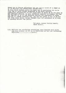 19861129pag2 Onderschrift: geen  Opmerking: afscheid Maarten van Orden als coach 23 mei 1987. Bief november 1986 blad 2   Collectie Suasso