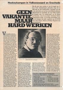19880408 Onderschrift: geen Opmerking: artikel uit Hockey Magazine 8 april 1988 Nr. 8   Collectie Ed van Orden