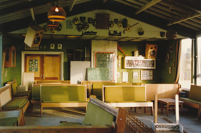19871130 Achterop: 30/11/87 Opmerking: inrichting oude clubhuis vlak voor begin verbouwing   CollectiePollmann Fotograaf: Pollmann Formaat: 15 x 10 Afdruk kleur