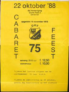 19881022 Affiche lustrum 1988 voorzijde   Collectie Jeroen Kok geplakt in schrift jeugdbestuur  Formaat: A 4