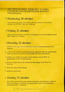 19881022 Affiche lustrum 1988 achterzijde   Collectie Jeroen Kok geplakt in schrift jeugdbestuur  Formaat: A 4