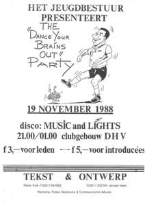 19881119 Onderschrift: zie foto Opmerking: affiche jeugdfeest 19 november 1988   Collectie Jeroen Kok  Formaat: ?