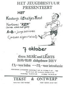 19891007 Onderschrift: zie foto  Opmerking: affiche jeugdfeest 7 oktober 1989   Collectie Jeroen Kok  Formaat: ?