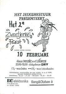 19900210 Onderschrift: zie foto Opmerking: affiche jeugdbestuur 10 februari 1990  Collectie Jeroen Kok  Formaat: ?