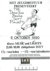 19901006 Onderschrift: zie foto Opmerking: affiche jeugdfeest 6 oktober 1990   Collectie Jeroen Kok Formaat: ?