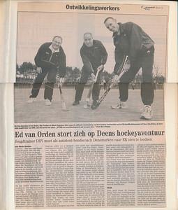 20020406 Onderschrift: geen Opmerking: artikel uit ?? over Ed van Orden naar Denemarken.  Collectie Ed van Orden