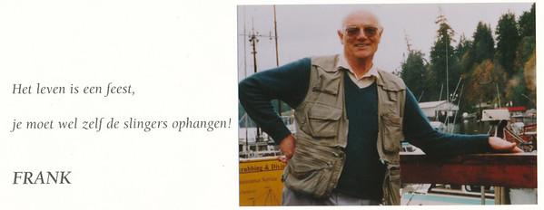 20010901 Onderschrift: Frank van Orden Kop van een bedankbrief van Trees van Orden-Botman aan DHV voor het medeleven bij het overlijden van Frank, Datum augustus/september 2001.  Daarom gedateerd 1 september 2001.  Archief DHV
