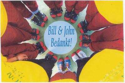 Onderschrift: zie foto Opmerking: achterzijde foto liefd mA1 2001-2002  Collectie Hylkema Fotograaf: onbekend Formaat: 27 x 18 Afdruk kleur