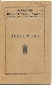 19150128  Reglement 1915  Onduidelijk is nog hoe dit in de geschiedenis past. Het reglement treedt in werking 28 januari 1915. Het lijkt erop dat er in 1915 reeds een fusie was.   Archief DHV