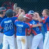 The Selinsgrove team celebrates after Ryan Reich hit a home run against Williamsport during the Major Division Championship game in Minersville on Thursday.