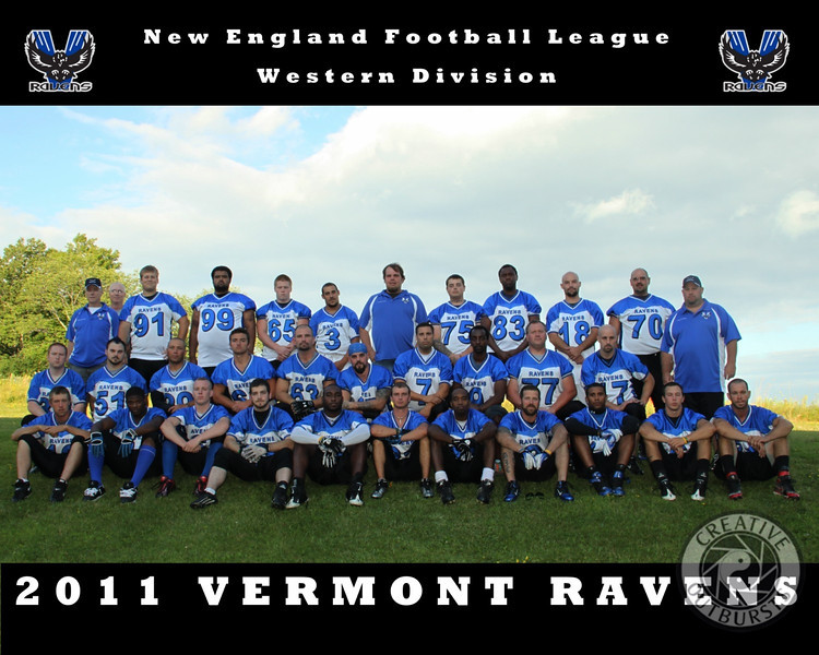 2011 Vermont Ravens Player Portraits