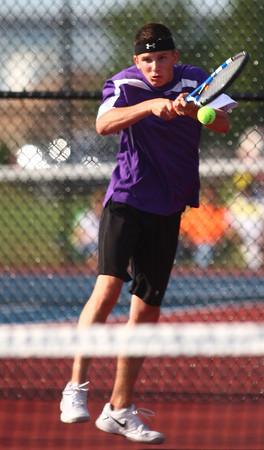 9-3-13<br /> Kokomo vs. Northwestern boys tennis<br /> NWHS 1 singles Kyle Miller<br /> KT photo | Kelly Lafferty