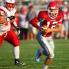8-30-13<br /> Maconaquah football<br /> Maconaquah's Kyle Dinn runs the ball.<br /> KT photo | Kelly Lafferty
