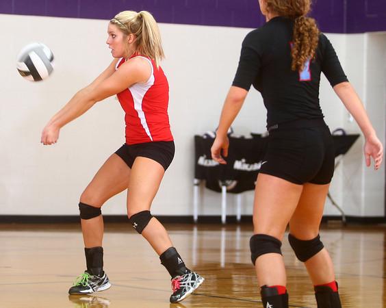 9-12-13<br /> Northwestern vs Maconaquah volleyball<br /> Maconaquah's Emily Wilson<br /> KT photo | Kelly Lafferty