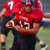 8-30-13<br /> Taylor vs. Tri Central football<br /> Taylor's Austin Smith runs the ball.<br /> KT photo | Kelly Lafferty