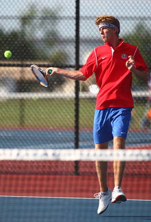 9-3-13<br /> Kokomo vs. Northwestern boys tennis<br /> Kokomo 1 singles Craig Simon<br /> KT photo | Kelly Lafferty