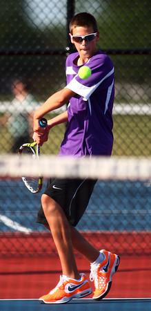 9-3-13<br /> Kokomo vs. Northwestern boys tennis<br /> NWHS 2 singles Clayton Douglass<br /> KT photo | Kelly Lafferty