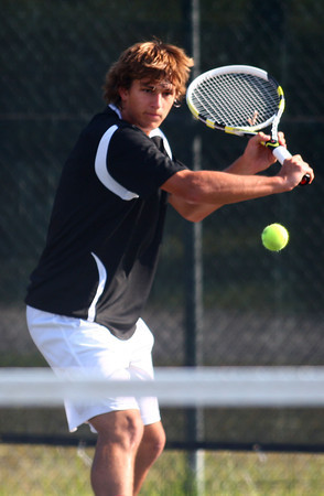 9-11-13<br /> Eastern vs. Western tennis<br /> Western 1 singles Judson Quinn<br /> KT photo | Kelly Lafferty