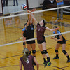 Dieterich's Mindy Bohnhoff (1) tips the ball over the Cumberland defense.